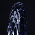 月光ZERO ハンドルカバー ブラック×ブルー