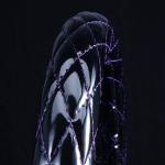 月光ZERO ハンドルカバー ブラック×パープル