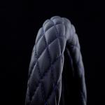 月光ZERO ハンドルカバー Mブラック×ブルー