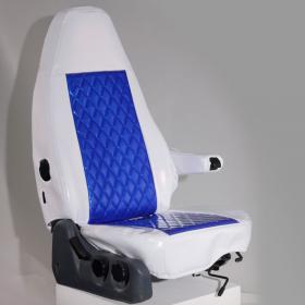 月光ZERO シートカバー(ツートンタイプ) ホワイト×ブルー