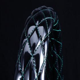月光ZERO ハンドルカバー ブラック×グリーン