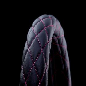 月光ZERO ハンドルカバー Mブラック×ピンク
